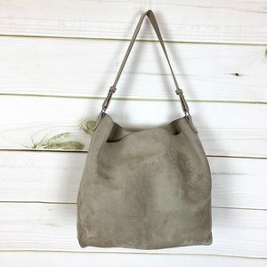 Old Navy Faux Suede slouchy hobo Taupe